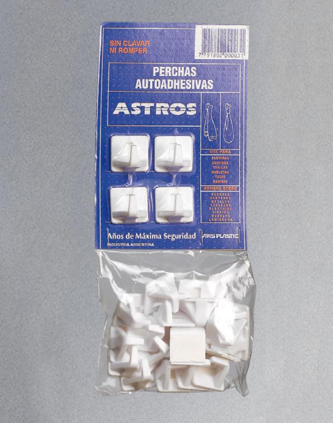 Percha Autoadhesiva __Astros__ x24